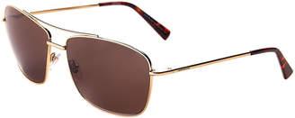 Montblanc MB 548S Gold-Tone Square Aviator Sunglasses