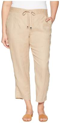 Lauren Ralph Lauren Plus Size Straight Linen Pants Women's Casual Pants