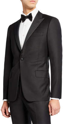 Hickey Freeman Men's Peak-Lapel Solid Tuxedo Suit