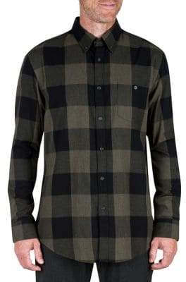 Buffalo David Bitton Haggar Heritage Checkered Brushed Button-Down Shirt