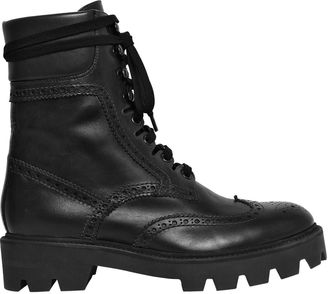 30mm Brogue Leather Combat Boots $980 thestylecure.com