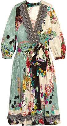 Etro - Printed Jacquard Wrap Dress - Green $4,660 thestylecure.com