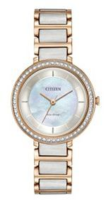 CitizenCitizen Eco-Drive Women's Paradex Crystal Two Tone Stainless Steel Watch - EM0483-89D