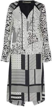 Roland Mouret Printed Silk Shirt Dress