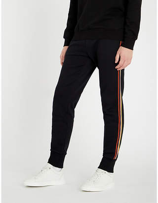 Paul Smith Side-stripe relaxed-fit tapered cotton-jersey jogging bottoms