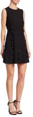 RED Valentino Cady Ruffle-Trimmed Dress