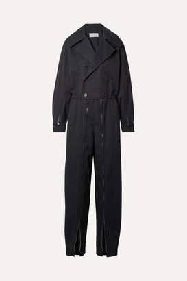 Maison Margiela Oversized Zip-embellished Twill Jumpsuit - Black