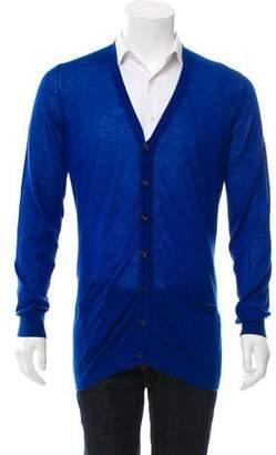 Marc Jacobs Cashmere Rib Knit Cardigan