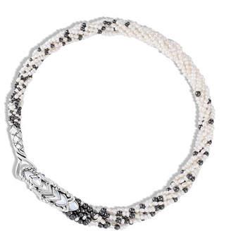 John Hardy Legends Naga Multi-Row Pearl Necklace