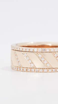 Ef Collection 14k Multi Diamond Slash Spinning Ring