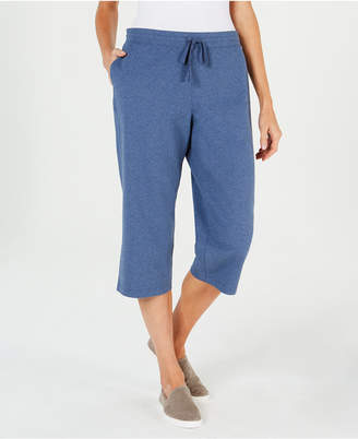 Karen Scott Knit Drawstring Capri Pants