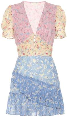 LoveShackFancy Bea floral silk minidress