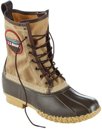 "Men's Katahdin Patch Waxed-Canvas L.L.Bean Boots, 10"""