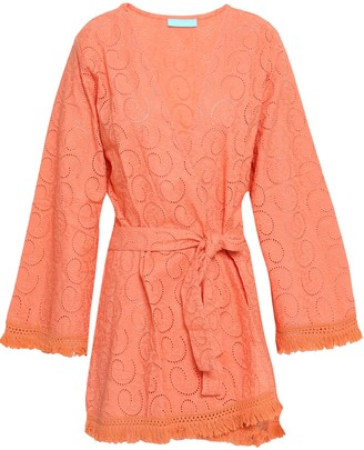 Melissa Odabash Pippa Frayed Broderie Anglaise Cotton Coverup