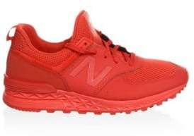 New Balance Men's 574 Sport Suede Sneakers - Beet Red - Size 6 D