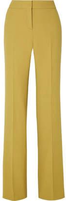 Bottega Veneta Wool-crepe Wide-leg Pants - Chartreuse