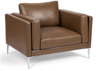One Kings Lane Arlo Club Chair - Dark Khaki Leather