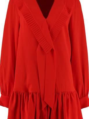 Alexander McQueen Silk Crepe Dress