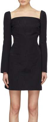 Ellery 'Paalen' contrast ribbon tie open back dress