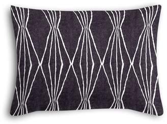 Loom Decor Boudoir Pillow Handcut Shapes - Charcoal