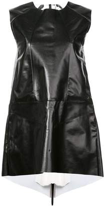 Vionnet pleated back detail dress