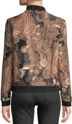 T.H. Designs Floral & Paisley Bomber Jacket