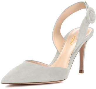 62304387836 YDN Women Slingback D Orsay Pumps Pointed Toe High Heel Slide Sandals  Office Shoes 8.5