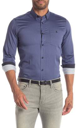 5f2d32aa5b676f Ted Baker Circle Print Long Sleeve Slim Fit Shirt