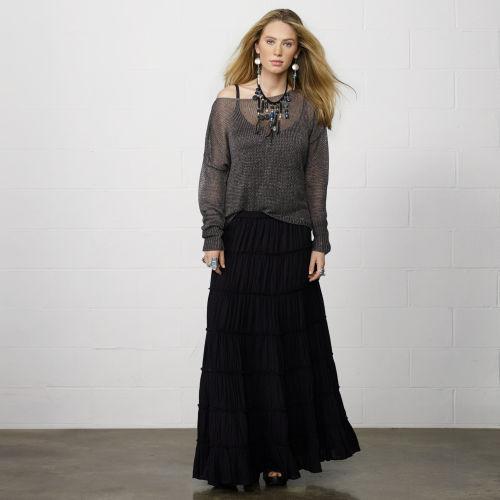 Denim & Supply Ralph Lauren Tiered Maxiskirt