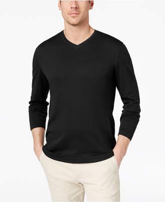 Tasso Elba Men's Supima Blend Knit V-Neck Long-Sleeve T-Shirt