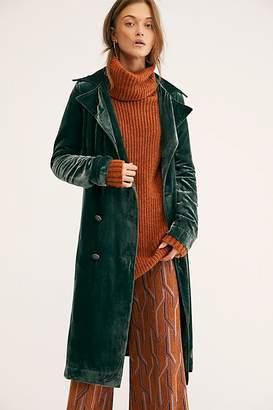 Bryant Velvet Trench Coat