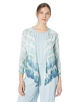 Nic+Zoe Women's Petite Ombre Sea 4-Way Cardy