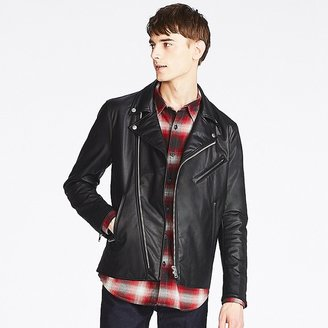 UNIQLO Men's Faux Leather Double-breasted Jacket $59.90 thestylecure.com