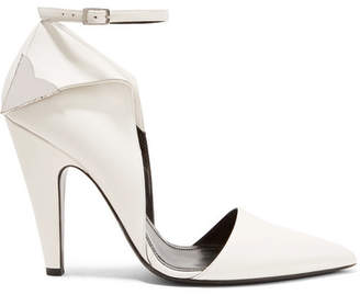 Calvin Klein Kadeance Embellished Leather Pumps - White