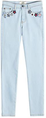 Fendi Embellished Skinny Jeans