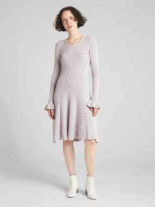 Gap Fit and Flare Long Sleeve Sweater Dress