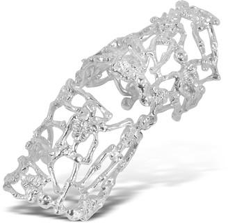 Bernard Delettrez Skeletons Silver Metal Articulated Ring