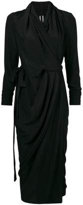 Rick Owens wrap midi dress