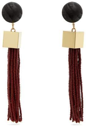 VANDA JACINTHO Cube tassel-drop earrings