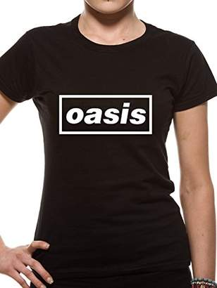 Oasis Official Licensed Ladies Emblem Fitted T-Shirt | Sizes S-XXL