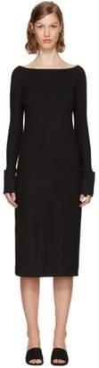 Helmut Lang Black Boat Neck Dress
