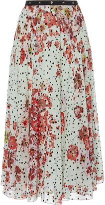 Giamba Floral Printed Silk Skirt $1,825 thestylecure.com