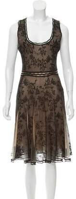 Zac Posen Lace Sleeveless Dress