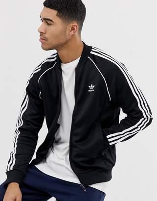 adidas adicolor Track Jacket In Black CW1256
