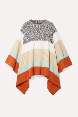Missoni Striped Wool Poncho - Beige