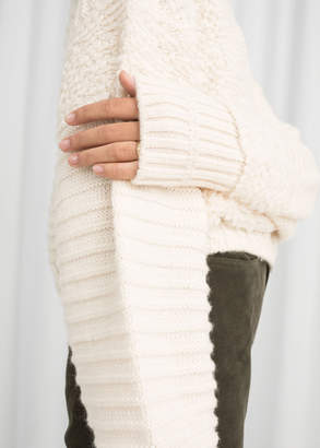 And other stories Mixed Texture Wool Sweater