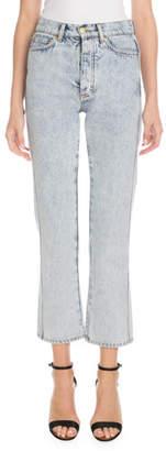 Victoria Beckham Victoria High-Waist Five-Pocket Straight-Leg Light-Wash Jeans