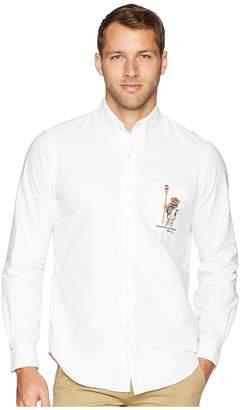 Polo Ralph Lauren Oxford Bear Player Sport Shirt Men's Clothing