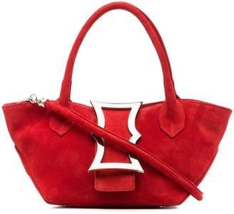 Dorateymur red mini lament suede leather tote bag