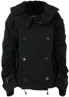 Junya Watanabe ruched double-breasted coat